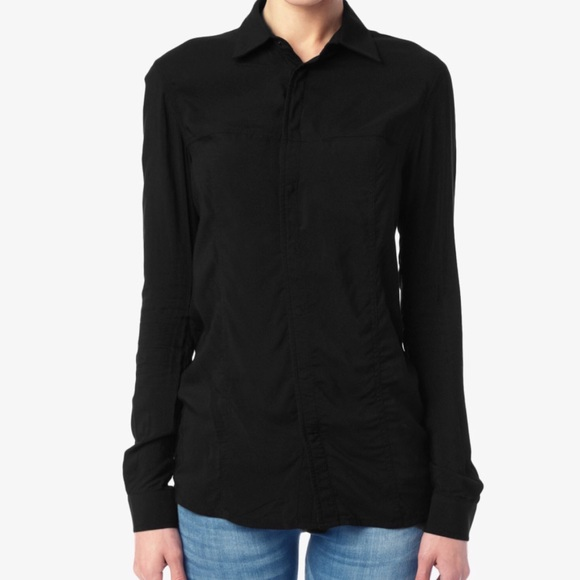 4639ee37786 Hudson Britt long sleeve black snap button top